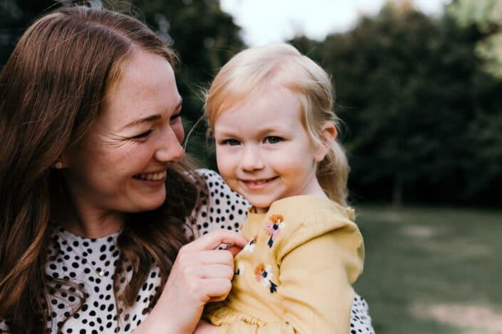 Mum and daughter hugging   family lifestyle photography in Basingstoke   Hampshire   Ewa Jones Photography