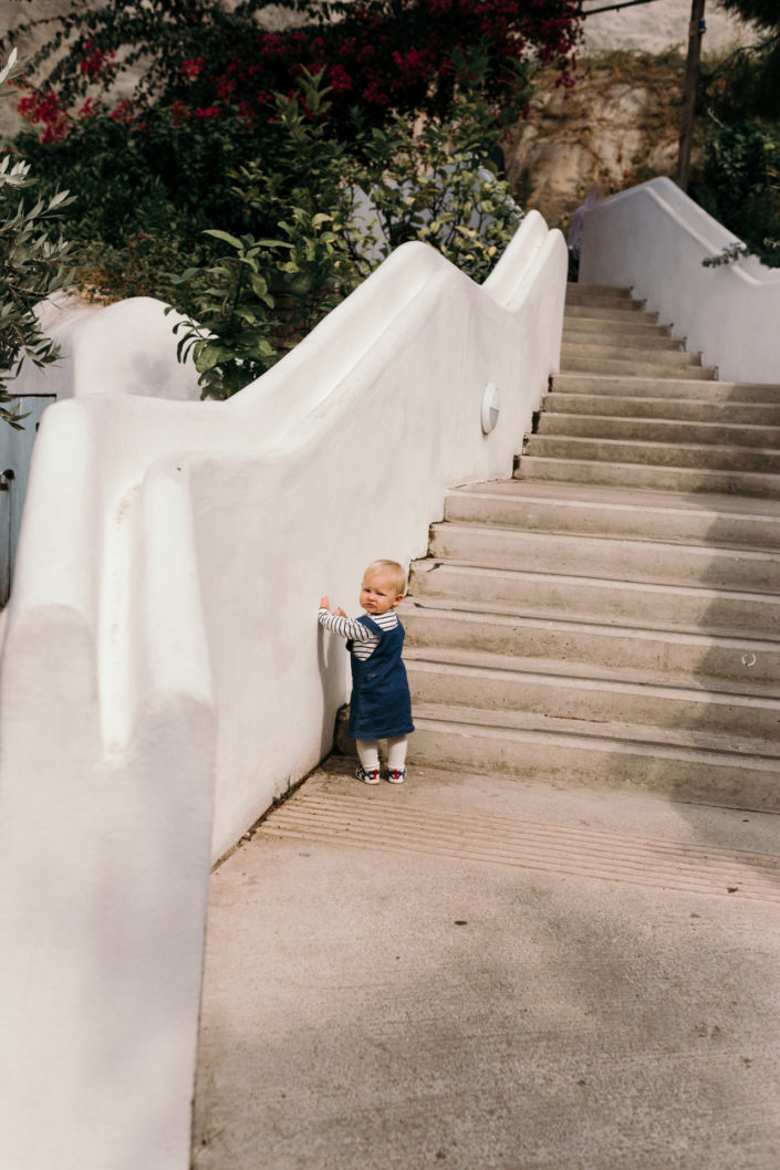 Girl standing next to the stairs by Ewa Jones Photography | Hampshire Photography