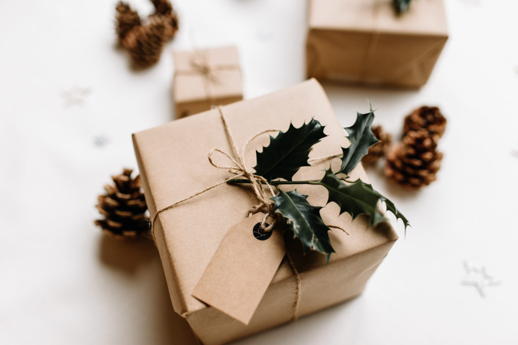 Gift wrapped in brown paper. Ewa Jones Photography