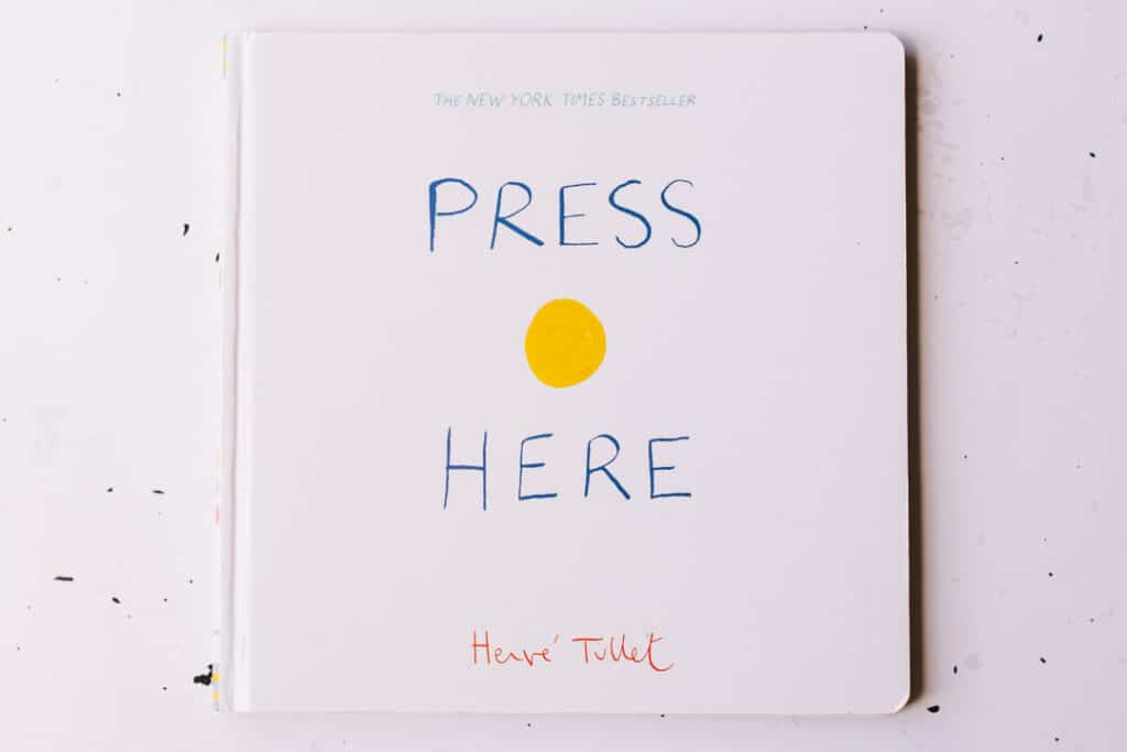 Press here book. 30 books to read for 0-5 year old - Part 1. Ewa Jones Photography