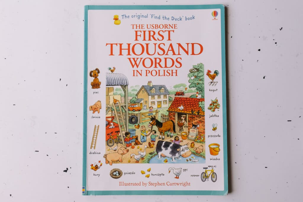 The First thousand words in polish book.30 books to read for 0-5 year old - Part 2. Ewa Jones Photography