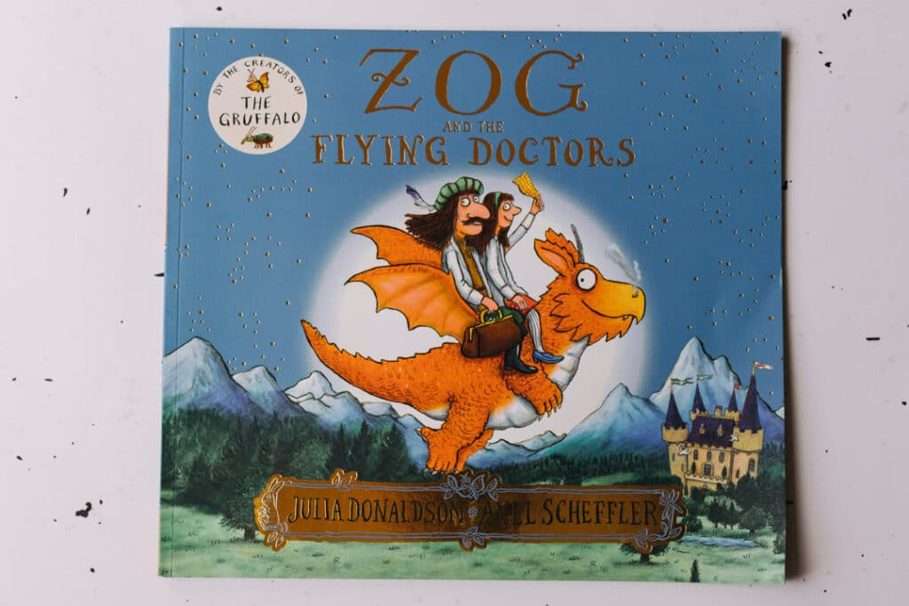 Zog and the flying doctors book. 30 books to read for 0-5 year old - Part 2. Ewa Jones Photography