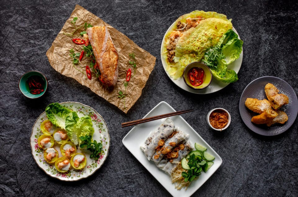 Food photography with Banana Blossom